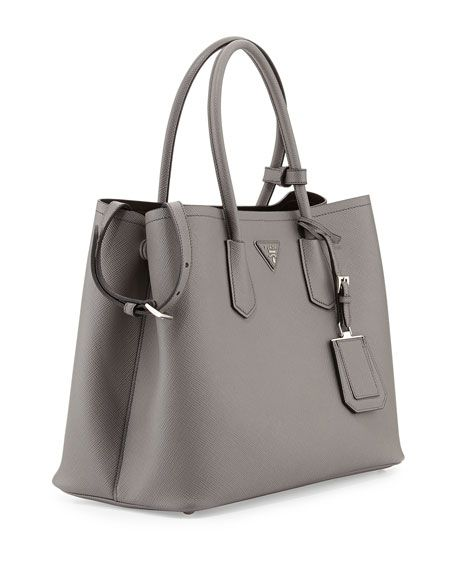 e913d082dabf Prada Double Bag.. gray with silver hardware. | TheUltimateBag in ...