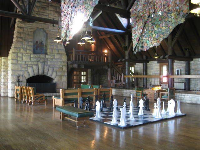 Large Chess Board At Pere Marquette Lodge In Grafton Il Granite City Lodge Vacation Trips