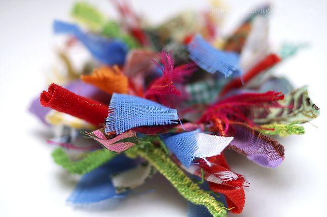 Photo of Fabric wreath brooch