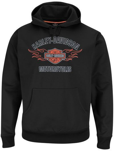 Details about Harley Davidson Mens Black Stay Dry Pullover