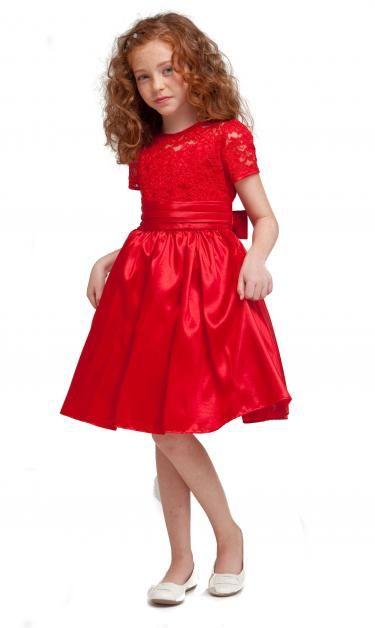 3f13792fd Red Flower girl dress Vestidos Rojos Para Niñas