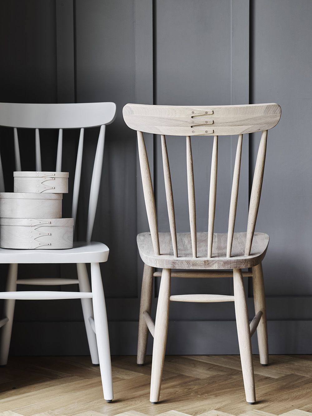 Gray painted dining chairs - Our New Shaker Oak Spindle Back Chair Is An Up To Date Version Of A Classic Country Style Oiled Oak 90h X 43w X 41d Cm Set Height From The Floor Pinterest
