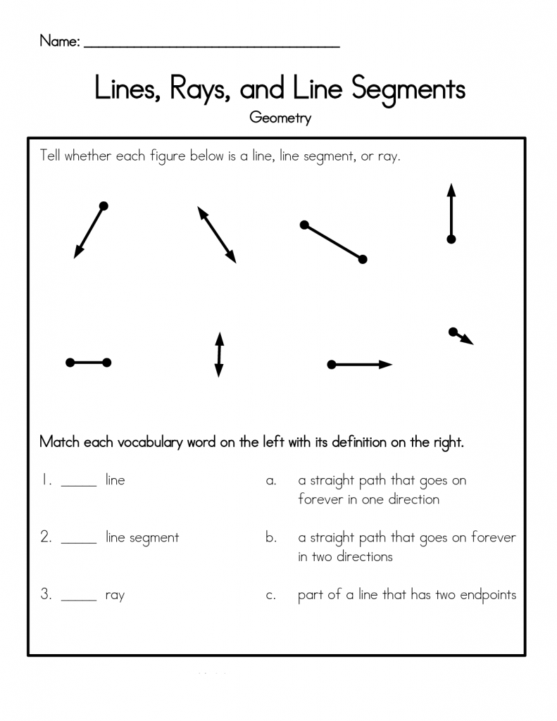 4th Grade Worksheets - Best Coloring Pages For Kids   Geometry worksheets [ 1024 x 791 Pixel ]