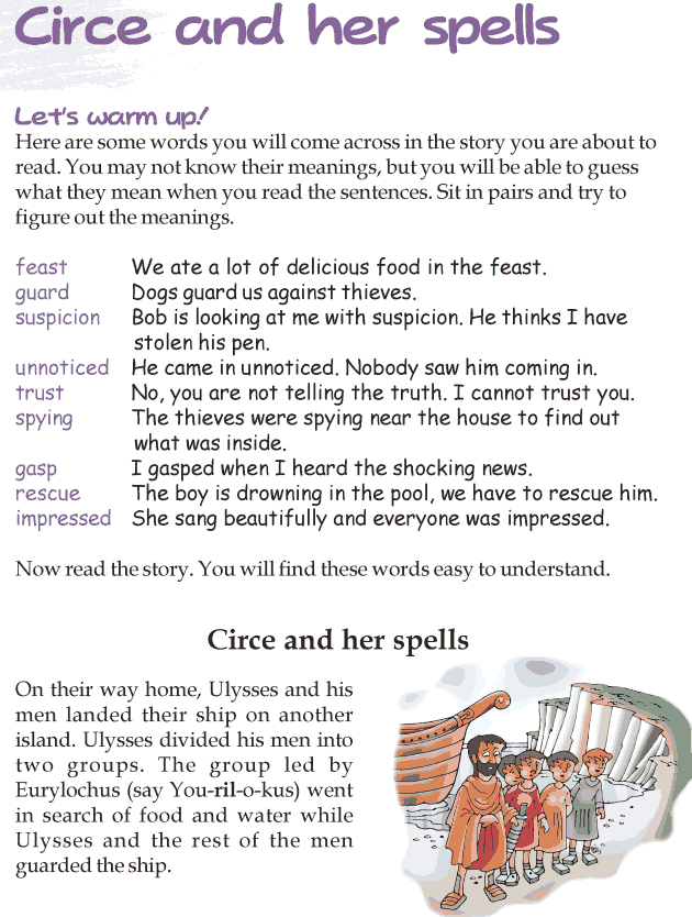 Worksheets Story Reading For Grade 3 grade 3 reading lesson 24 myths and legends circe her spells spells