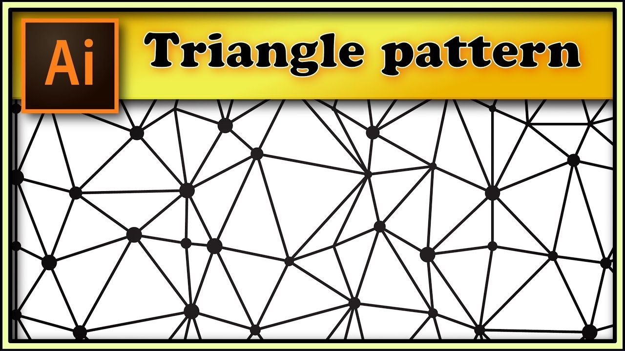 Irregular Triangles Pattern With Dots Adobe Illustrator Tutorial Illustrator Tutorials Triangle Pattern Adobe Illustrator Tutorials