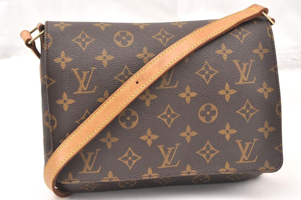 14695f749b1d Authentic Louis Vuitton Monogram Musette Tango Shoulder Bag M51257 LV 60858   bags  coolbags