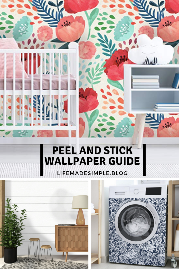 Peel And Stick Wallpaper Guide Life Made Simple Peel And Stick Wallpaper Temporary Wallpaper Blogger Decor
