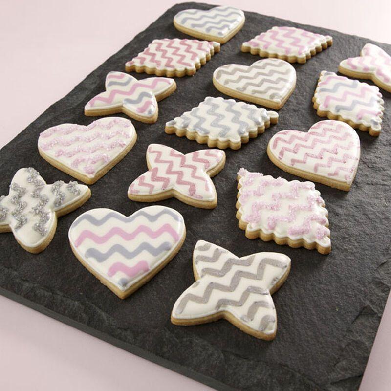 Chevron Birthday Cookies