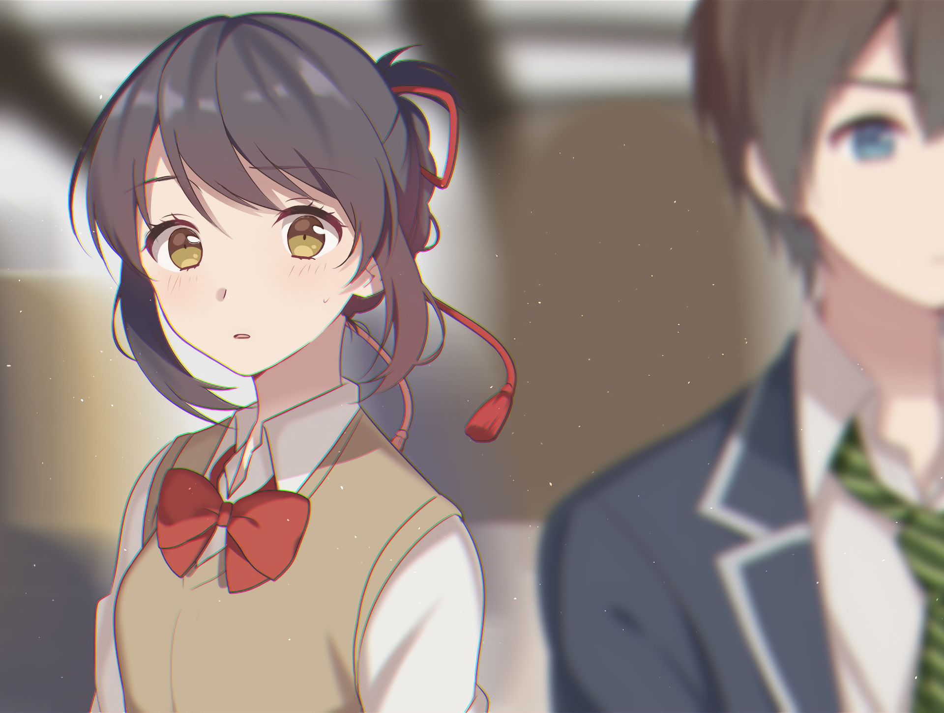 Anime Your Name. Taki Tachibana Mitsuha Miyamizu Kimi No ...