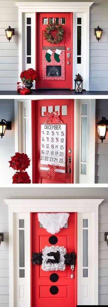 adornos de navidad para puertas faciles