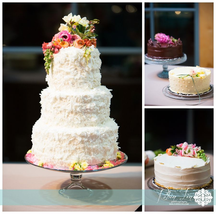 Coconut Wedding Cake From Yellow Bird Bakery And Lit By Get Special Event