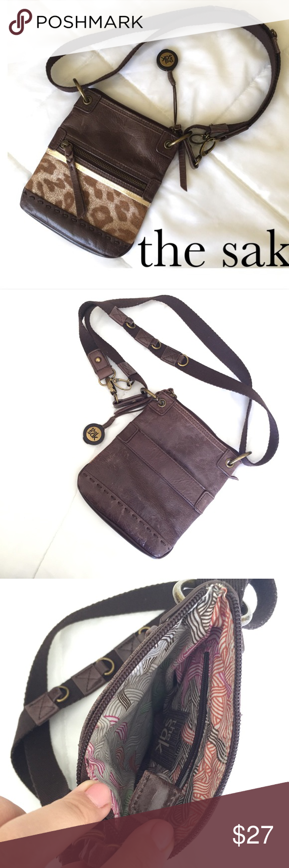"""SALE ❤️ The Sak Crossbody Purse ❤️ Awesome The Sak Small Crossbody Purse! ❤️ Perfect vacay, festival, or everyday purse! Adjustable strap gives you lots of wearing options! Measures 8"""" height, 6.5"""" length, and 3/4"""" width. Gently loved, so a few little scuffs that only add to its carefree character.  The Sak Bags Crossbody Bags"""