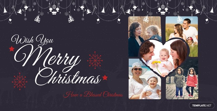 Free Simple Merry Christmas Card Template Word Doc Psd Apple Mac Pages Publisher Christmas Photo Card Template Christmas Card Template Family Christmas Card Photos