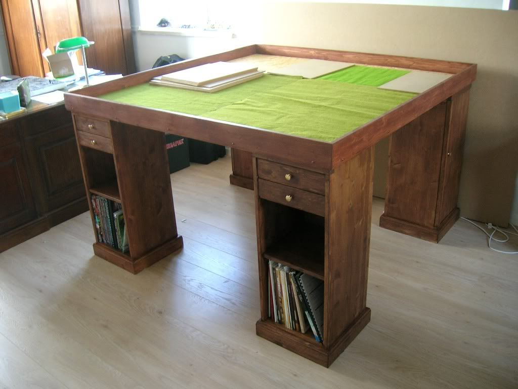 First WIP pictures! Table games, Gaming table diy, Dnd table