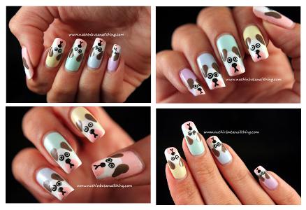 Cute Dog Nail Art Tutorial Amazingnailart Amazing Nail Art