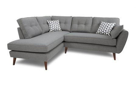 Zinc Right Arm Facing Corner Group Zinc Grey Corner Sofa Sofa Living Room Grey