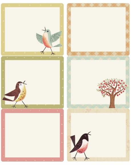 Sweet Birds address shipping round labels – Free Mailing Label Template