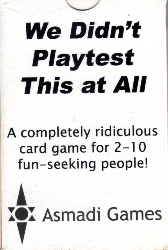 """""""We Didn't Playtest This At All"""""""