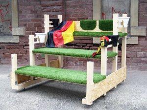 Fußballtribüne selber bauen bei heimwerker.de