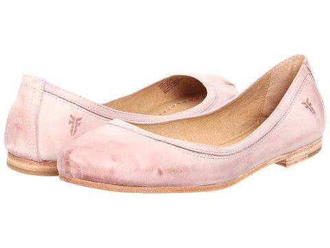 5e0c10a8b17b Frye Carson Ballet Blush Burnished Leather- I can t wait to try these super  cute flats! Pricey from the manufacturer