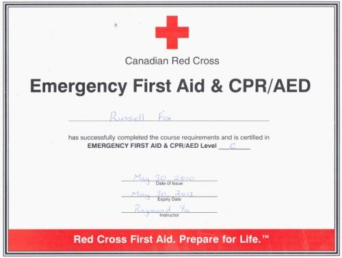 Good Cpr First Aid Certification Cpr Card Certificate Templates First Aid