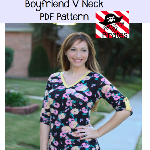 Boyfriend VNeck Patterns for Pirates Sewing Patterns Delectable Patterns For Pirates