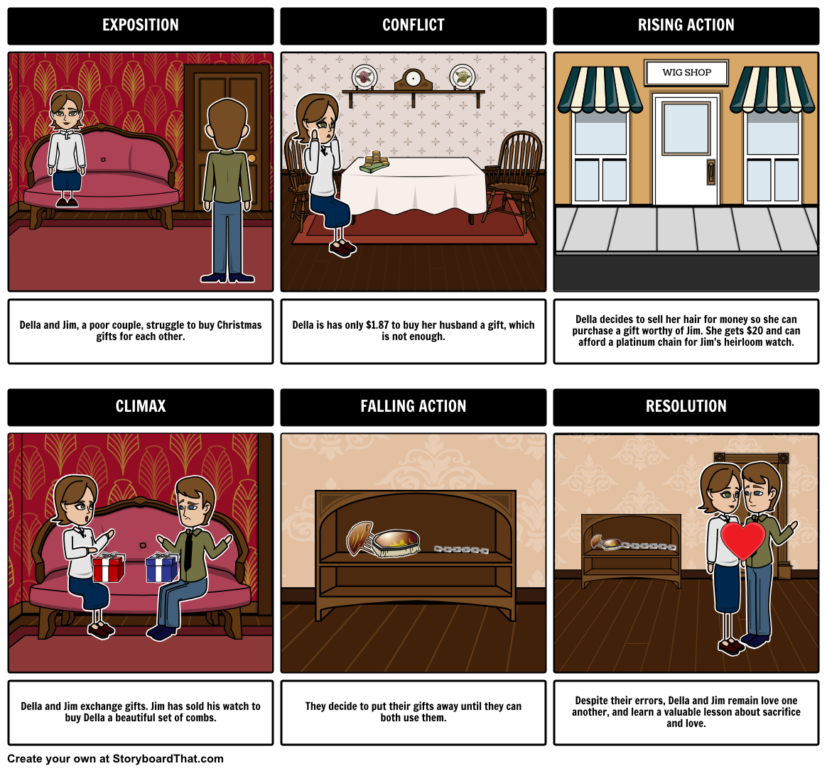 The gift of the magi by o henry teacher guide includes activities the gift of the magi by o henry lesson plan includes student activities including plot diagram summary theme motifs questions all in a storyboard ccuart Gallery