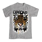 Money goes to save big cats - grey t-shirt