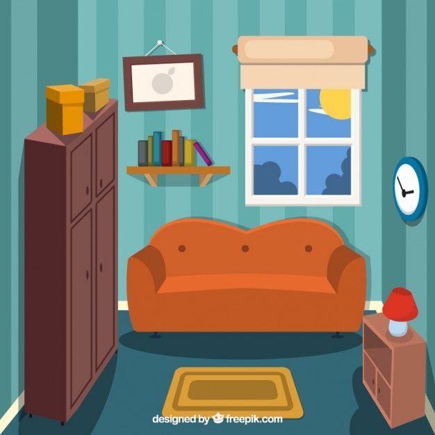 Small Living Room Free Vector