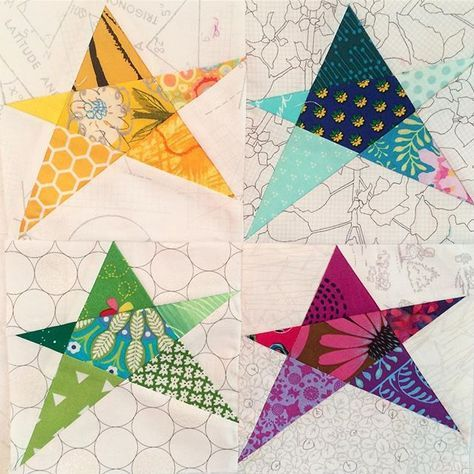 Four Crazy Stars For Maryonlakepulaski Hope You Like It Mcmbee Paper Quilt Quilting Projects Quilt Patterns