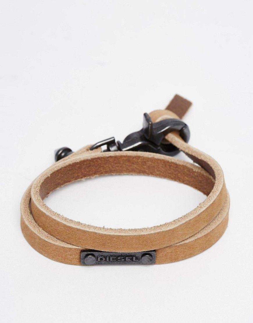 Diesel bracelet double tour avec logo