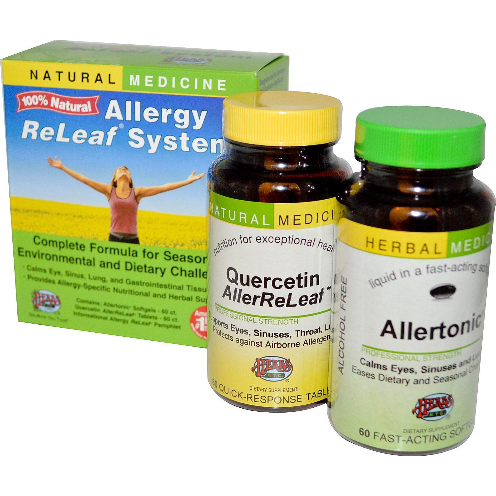Herbs Etc Allergy Releaf System 2 Bottles 60 Softgels Tablets Natural Allergy Allergies Natural Medicine