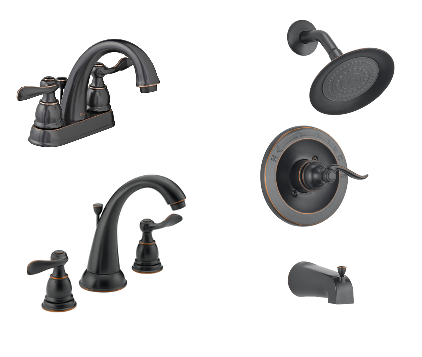 Bathroom Faucet Collection Delta Windemere Oil Rubbed Bronze