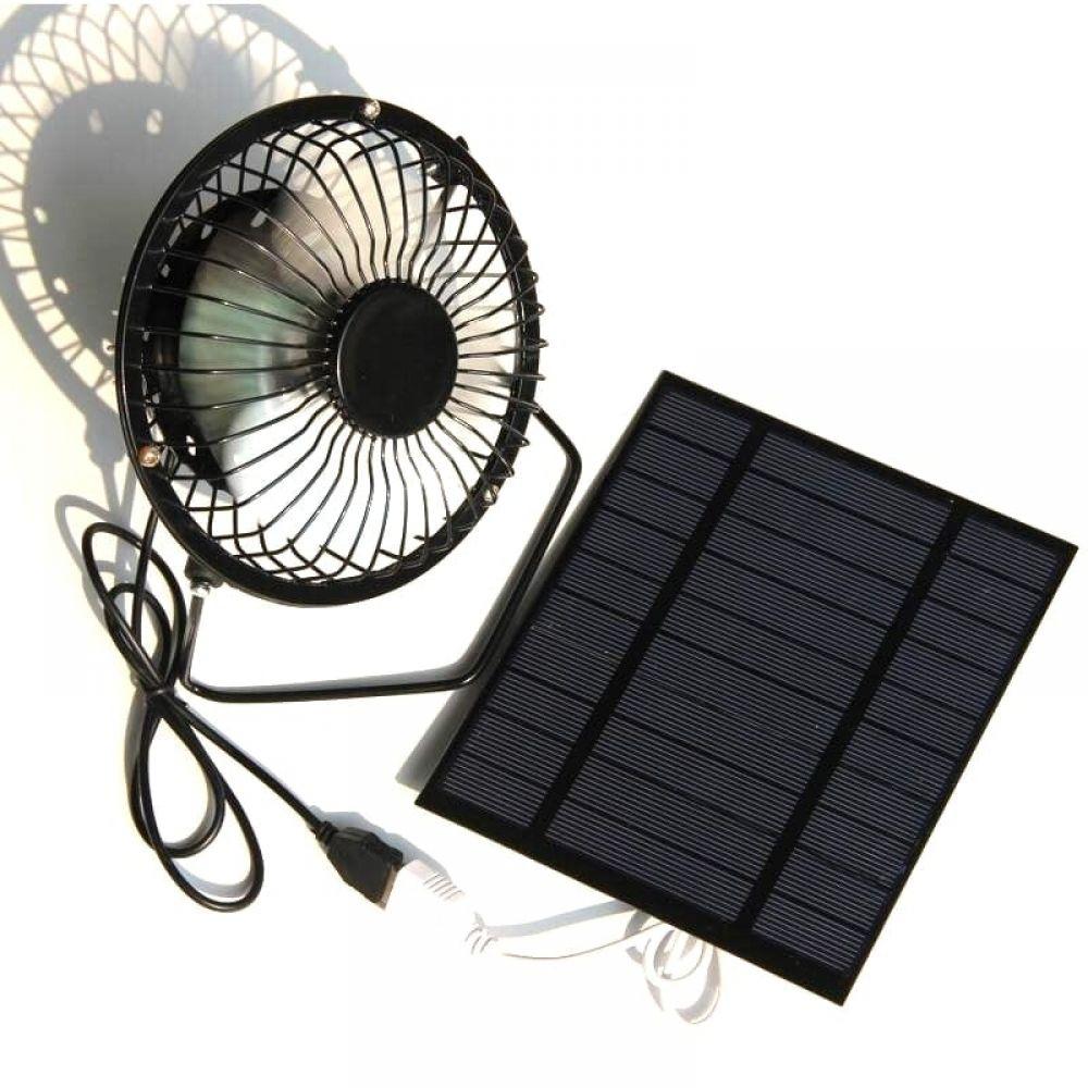 Usb Solar Cooling Ventilation Fan In 2020 Ventilation Fan Solar Powered Fan Iron Fan
