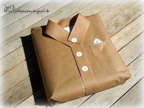 Interesting idea how to wrap a gift for a man_