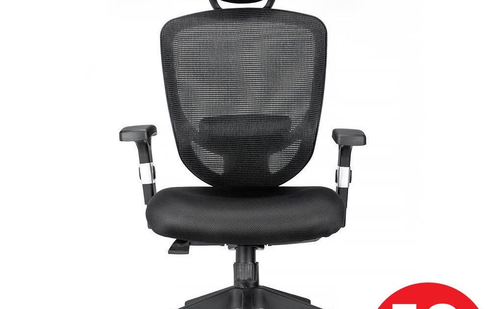 Ergonomic Office Chair With Adjustable Headrest And Lumbar Support