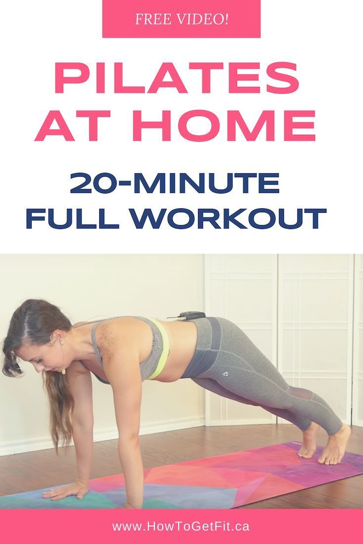 20-Minute Pilates Exercises - Full Workout At Home #pilatesworkoutvideos