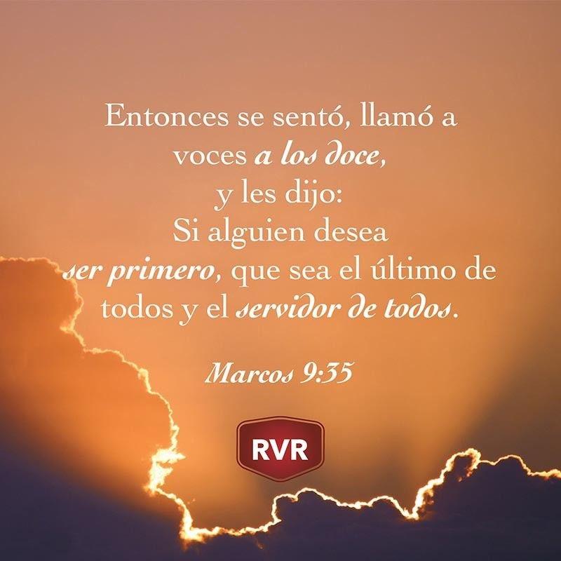 RVR Versículo Bíblico Diario: Marcos 9:35 | Palabra de Dios