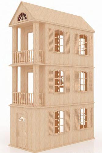 La casa de barbie en madera buscar con google wooden - La casa de madera ...
