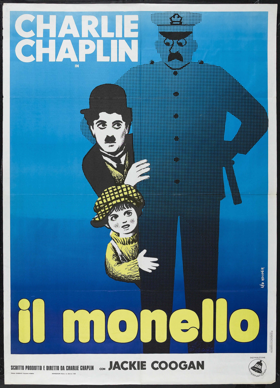 The Kid (Charlie Chaplin, 1921) 1960s re-release Italian 2 ...