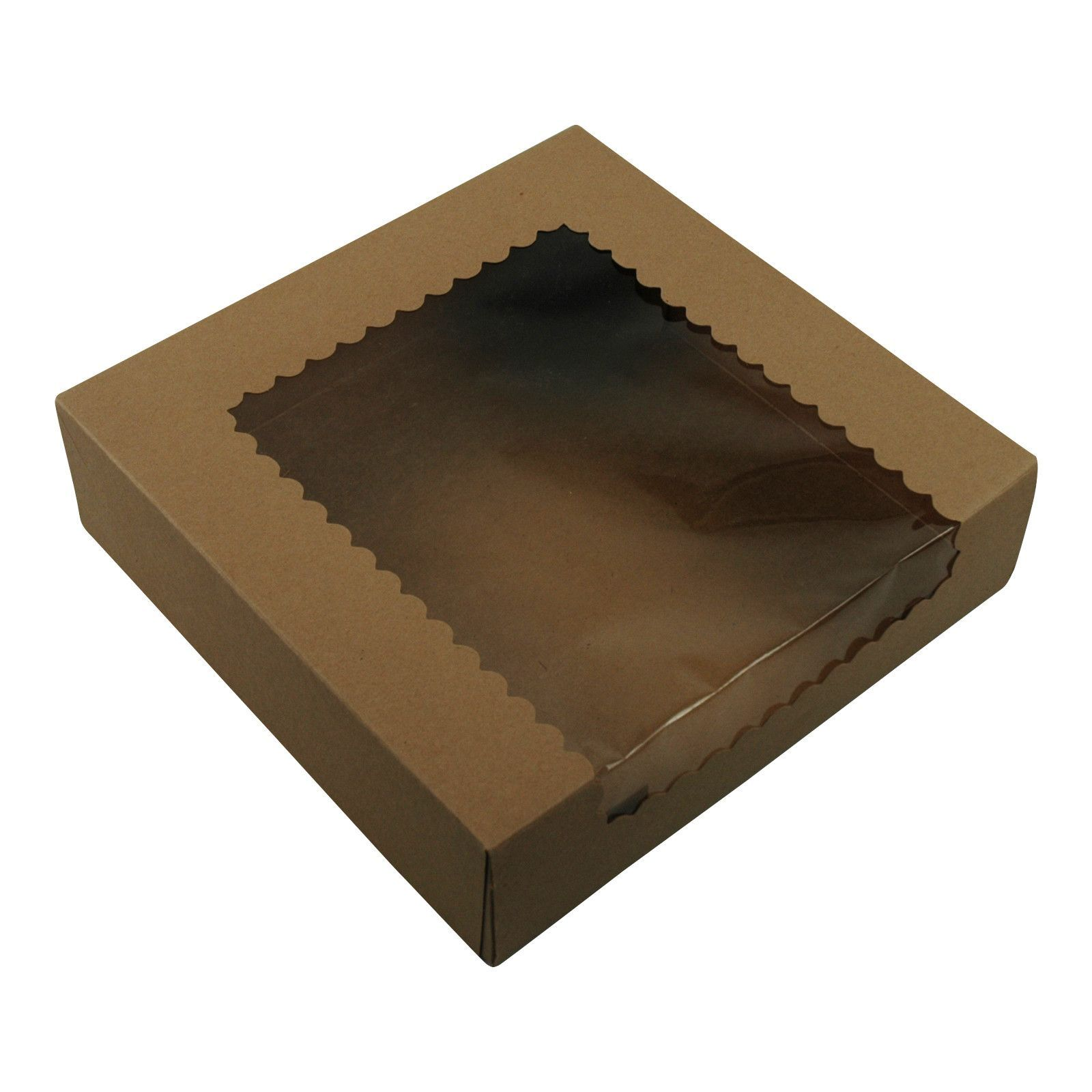 Brown Kraft Cake Boxes With Window 9x9x2 5 150 Bundle Box Cake Bakery Supplies Bakery