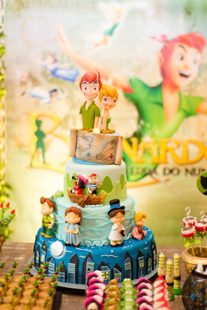 Excellent Neverland Birthday Party Em 2020 Festa De Peter Pan Bolos De Personalised Birthday Cards Paralily Jamesorg