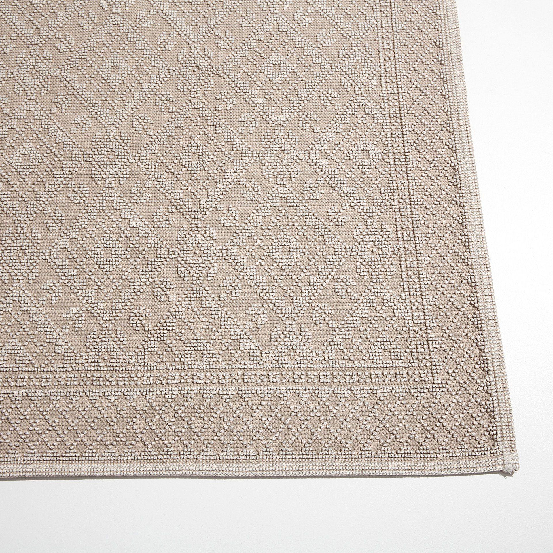 tapis coton jacquard geometrique