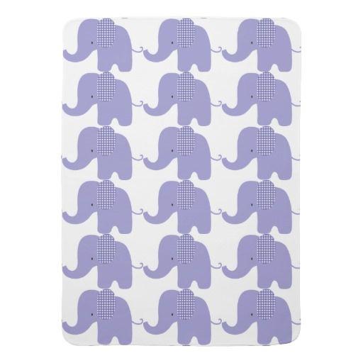 Purple Baby Elephant Baby Blanket