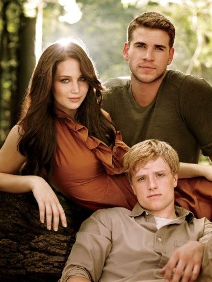 Josh Hutcherson aka Peeta Mellark hair color blonde. Jennifer Lawrence aka Katniss Everdeen. Liam hemsworth aka gale Hawthorne