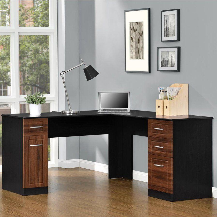 Dahlin executive desk with drawers l shape pinterest desks