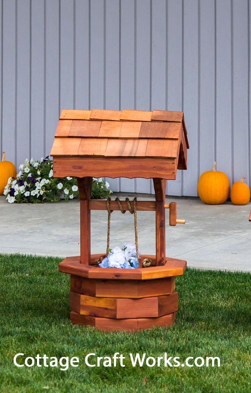 Ornamental yard and garden decor Amish handcrafted cedar wishing ...