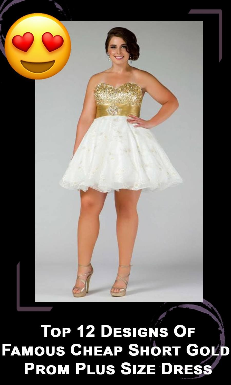 Cheap Short Gold Prom Plus Size Dress Rental #Fun #OMG #WTF ...