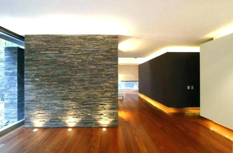 Accent Wall Lighting Reception Stone