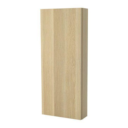 GODMORGON Väggskåp med 1 dörr, högglans vit Badrum och Ikea